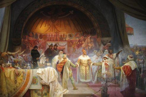 Plátna Muchovy Slovanské epopeje jsou už v Moravském Krumlově